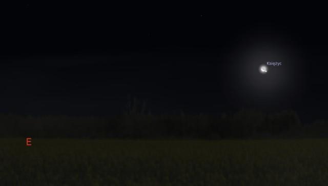 Księżyc i Spika 27.12.2013 godz. 2:40