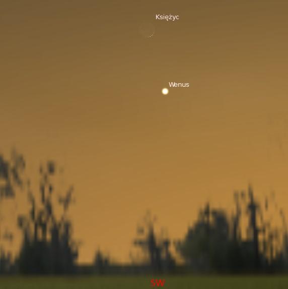 Księżyc i Wenus 02.01.2014