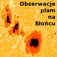 Obserwacje plam na Słońcu