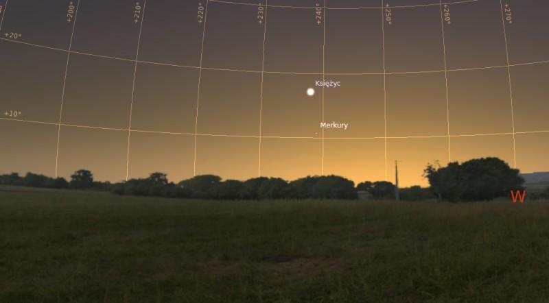 Księżyc i Merkury 01.02.2014