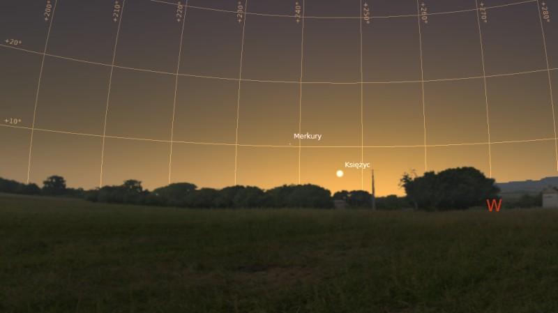 Księżyc i Merkury 31.01.2014