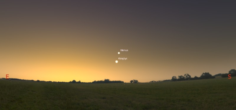 Księżyc i Wenus 29.01.2014
