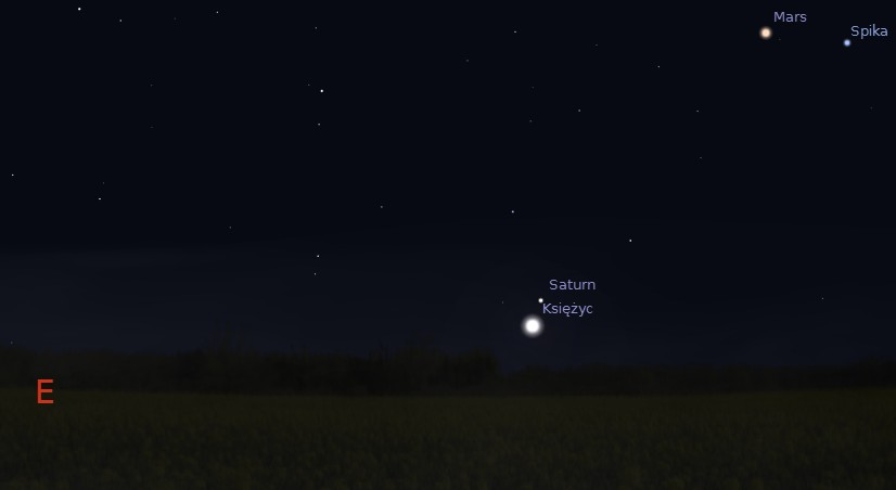 Księżyc i Saturn 22.02.2014