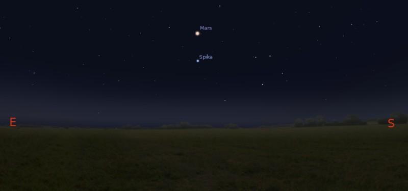 Mars w opozycji, 08.04.2014 godz. 22:00