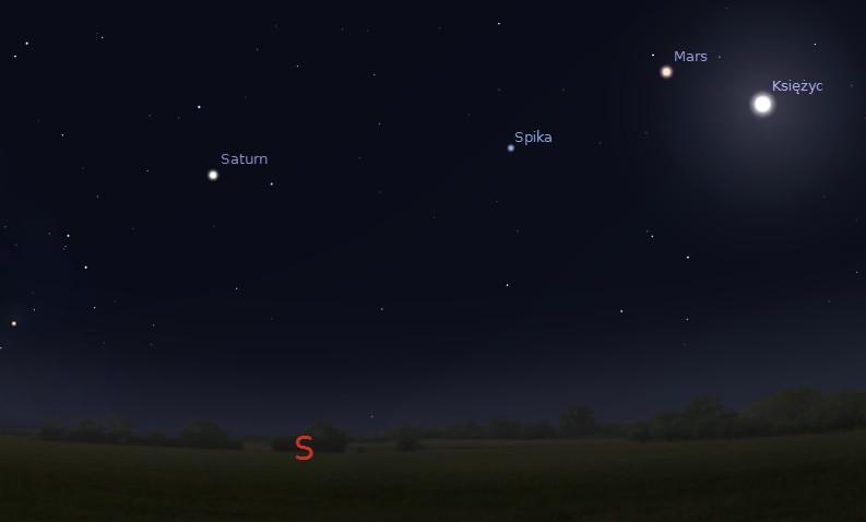 Saturn w opozycji, 10.05.2014 godz. 23:50