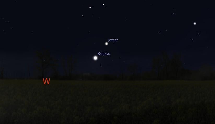 Księżyc i Jowisz 07.04.2014