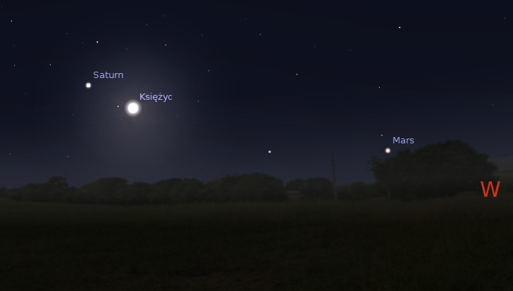 Księżyc i Saturn 13.05.2014