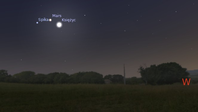 Księżyc i Mars 05.07.2014
