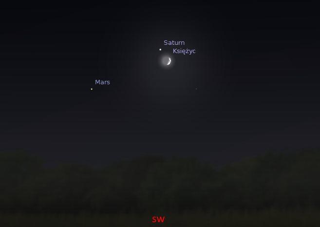 Księżyc i Saturn 31.08.2014