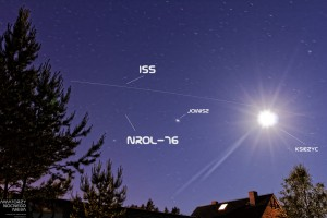 ISS i satelita NROL-76 2017.06.02